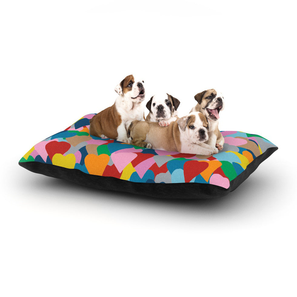 "Project M ""More Hearts"" Dog Bed - KESS InHouse  - 1"
