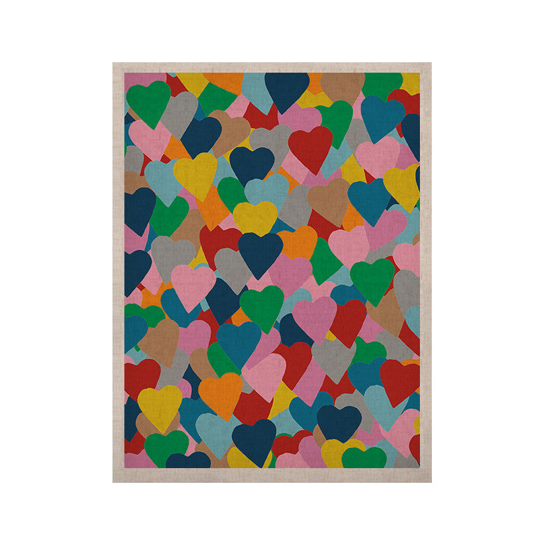 "Project M ""More Hearts"" KESS Naturals Canvas (Frame not Included) - KESS InHouse  - 1"
