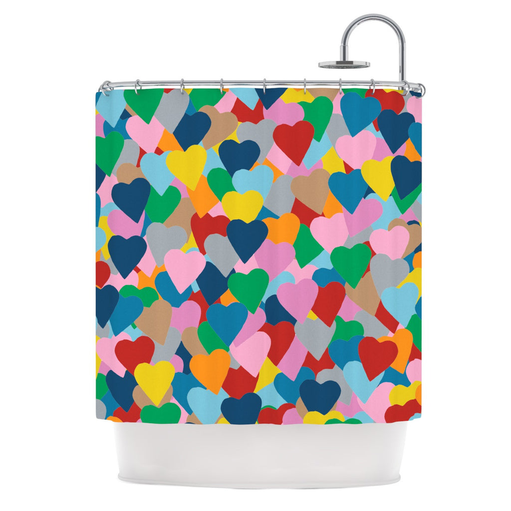 "Project M ""More Hearts"" Shower Curtain - KESS InHouse"
