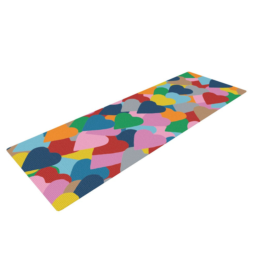 "Project M ""More Hearts"" Yoga Mat - KESS InHouse  - 1"