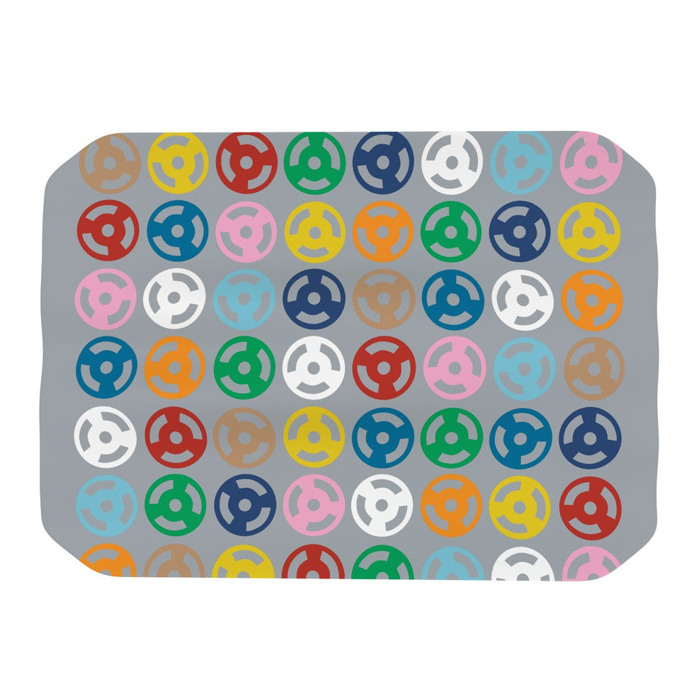 "Project M ""Roll with it on Grey"" Place Mat - KESS InHouse"