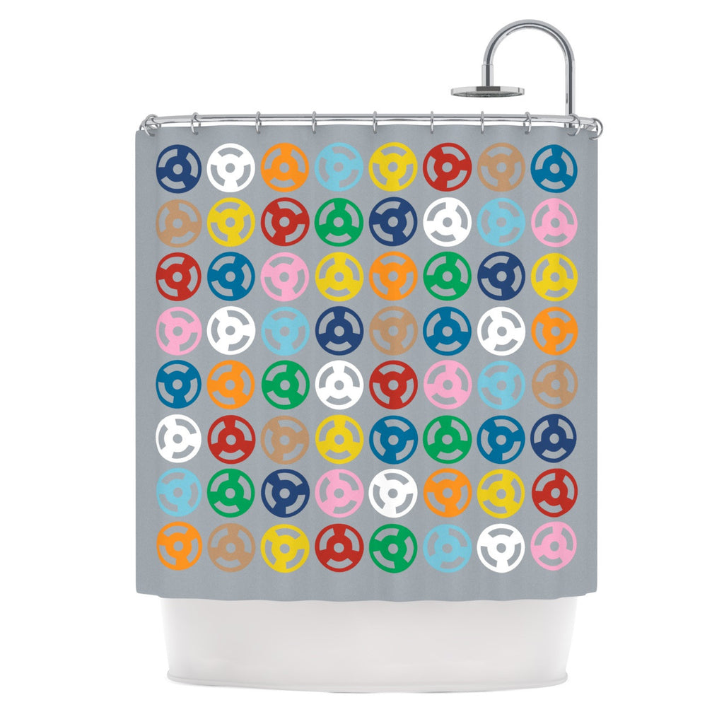 "Project M ""Roll with it on Grey"" Shower Curtain - KESS InHouse"
