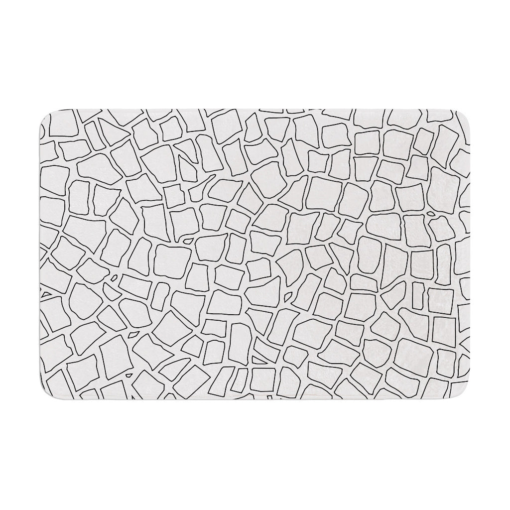 "Project M ""British Mosaic"" Memory Foam Bath Mat - KESS InHouse"