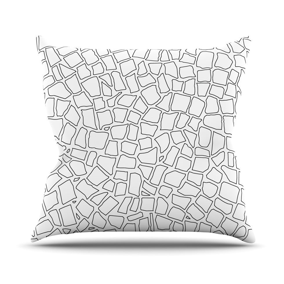 "Project M ""British Mosaic"" Outdoor Throw Pillow - KESS InHouse  - 1"