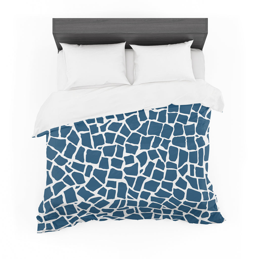 "Project M ""British Mosaic Navy"" Cotton Duvet"