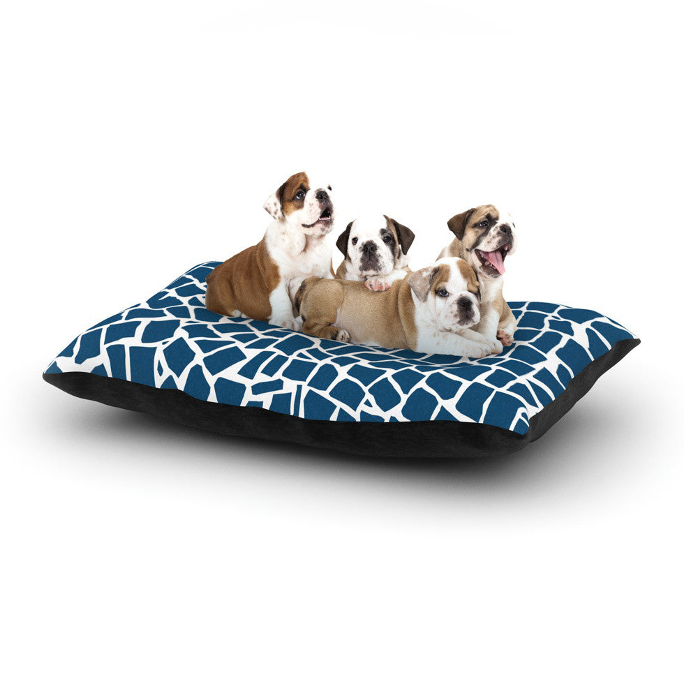 "Project M ""British Mosaic Navy"" Dog Bed - KESS InHouse  - 1"