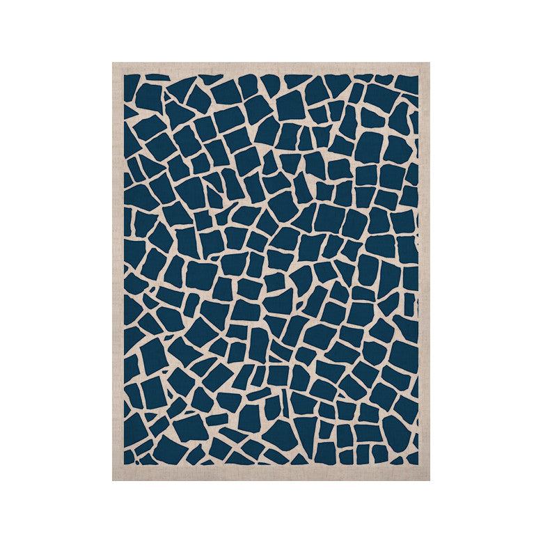 "Project M ""British Mosaic Navy"" KESS Naturals Canvas (Frame not Included) - KESS InHouse  - 1"