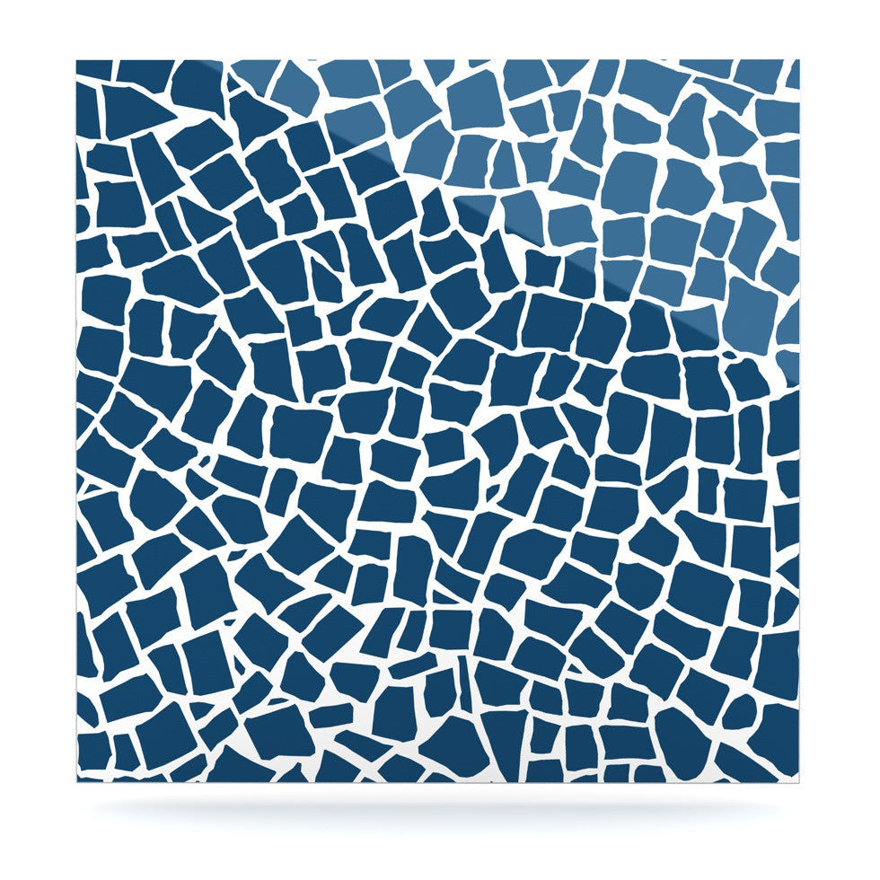 "Project M ""British Mosaic Navy"" Luxe Square Panel - KESS InHouse  - 1"