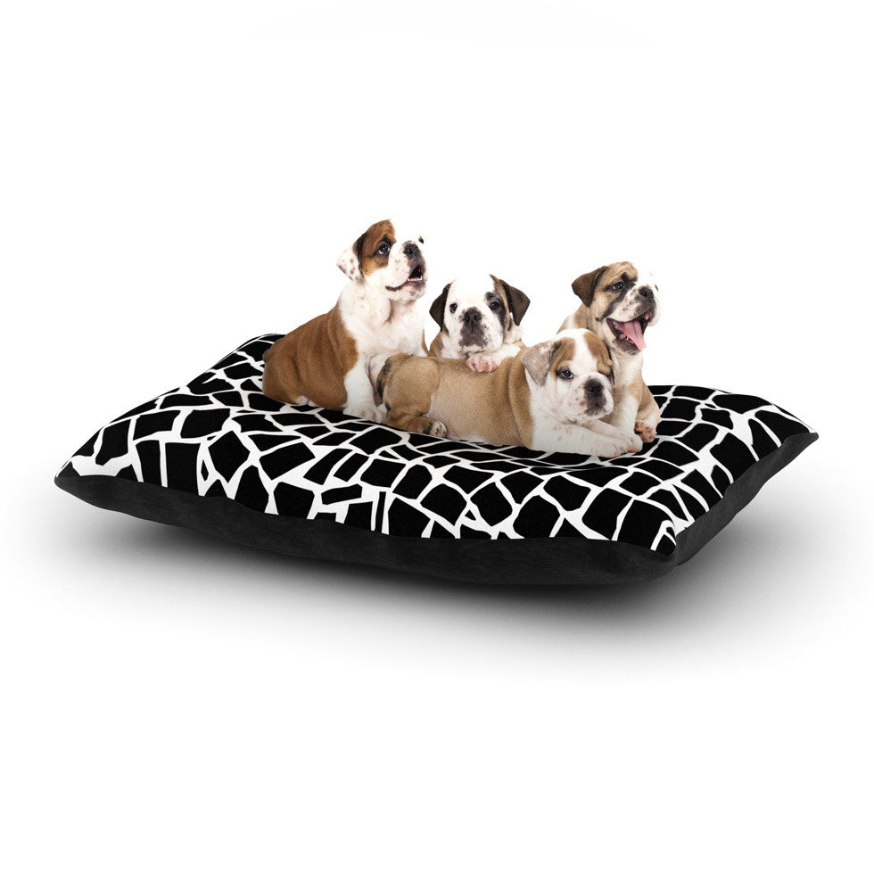 "Project M ""British Mosaic Black"" Dog Bed - KESS InHouse  - 1"