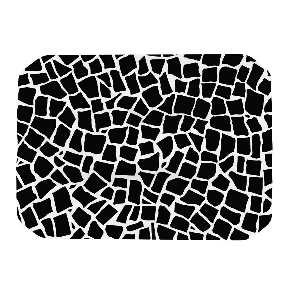 "Project M ""British Mosaic Black"" Place Mat - KESS InHouse"