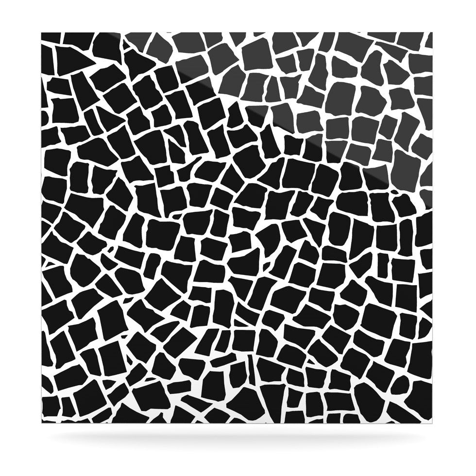 "Project M ""British Mosaic Black"" Luxe Square Panel - KESS InHouse  - 1"