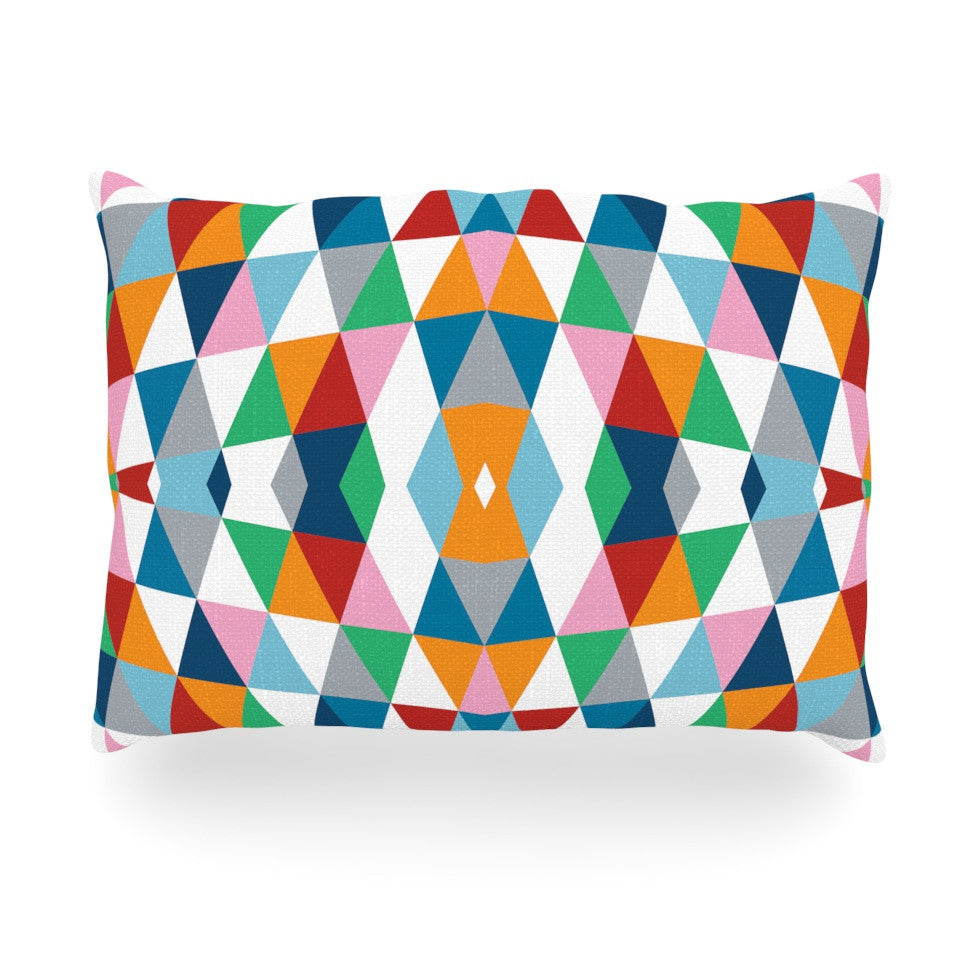 "Project M ""Geometric"" Oblong Pillow - KESS InHouse"