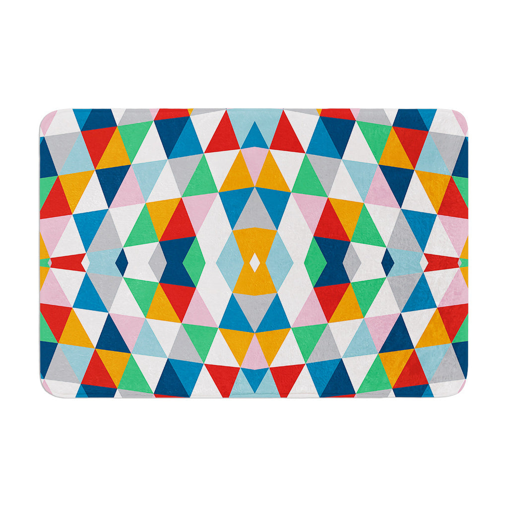 "Project M ""Geometric"" Memory Foam Bath Mat - KESS InHouse"