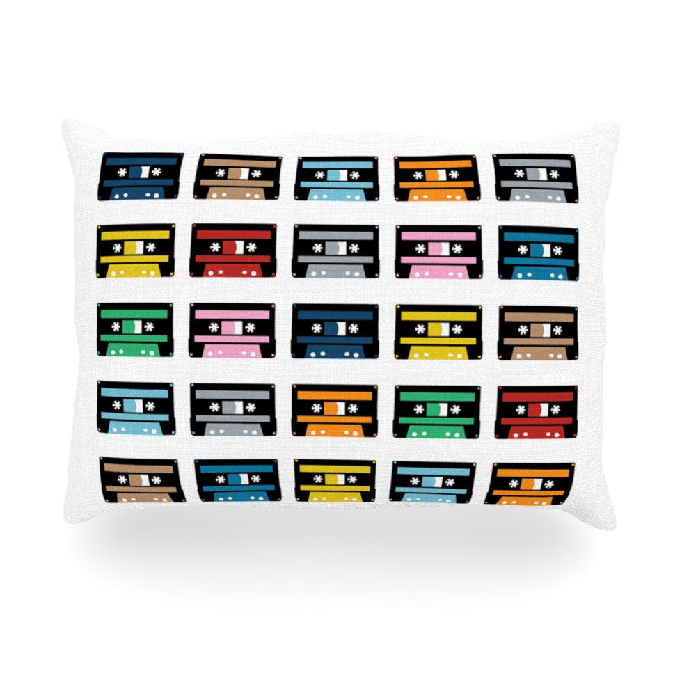 "Project M ""Rainbow Tapes"" Oblong Pillow - KESS InHouse"