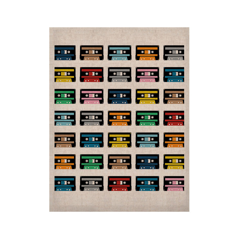 "Project M ""Rainbow Tapes"" KESS Naturals Canvas (Frame not Included) - KESS InHouse  - 1"
