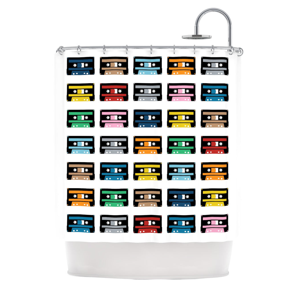 "Project M ""Rainbow Tapes"" Shower Curtain - KESS InHouse"