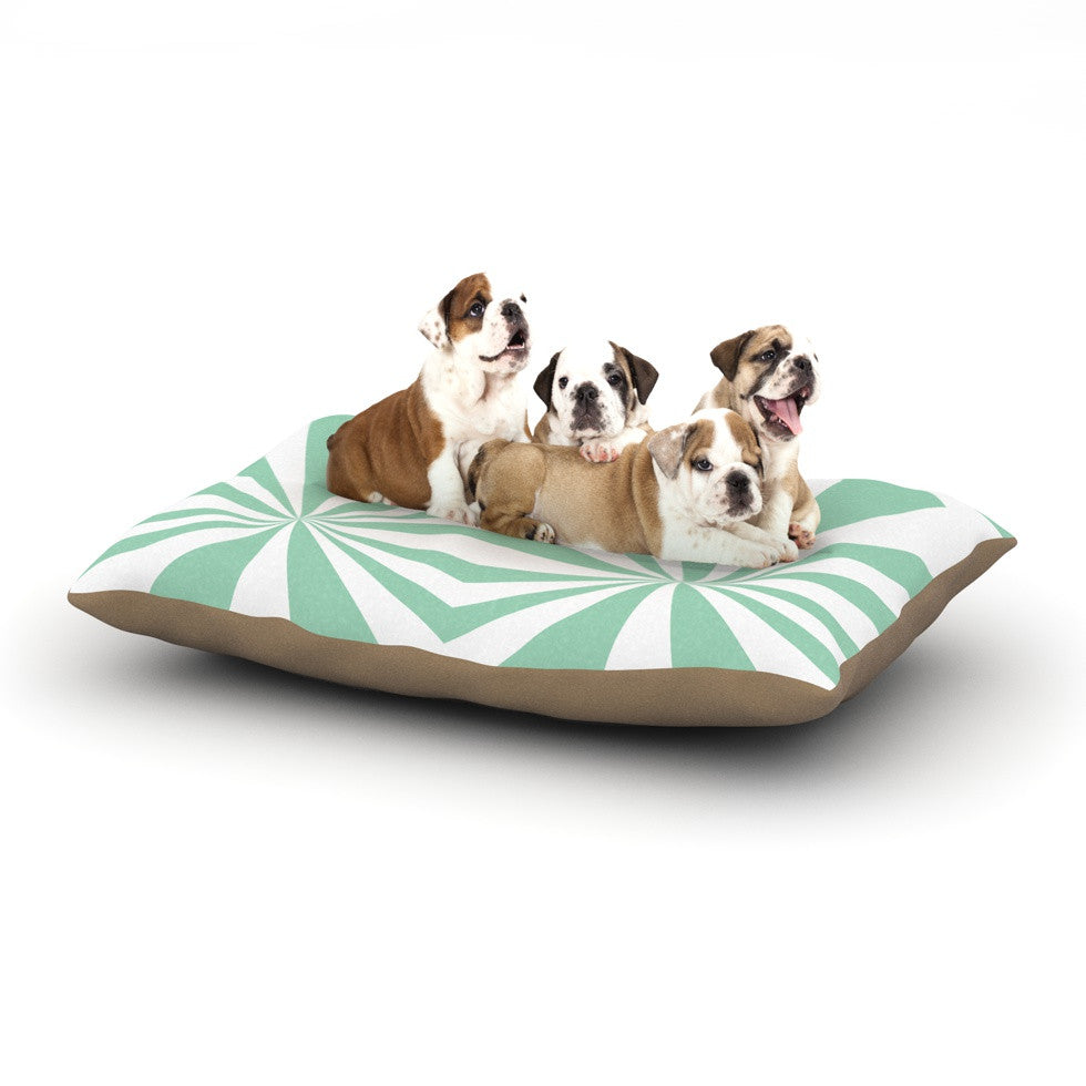 "Project M ""Starburst Mint"" Dog Bed - KESS InHouse"