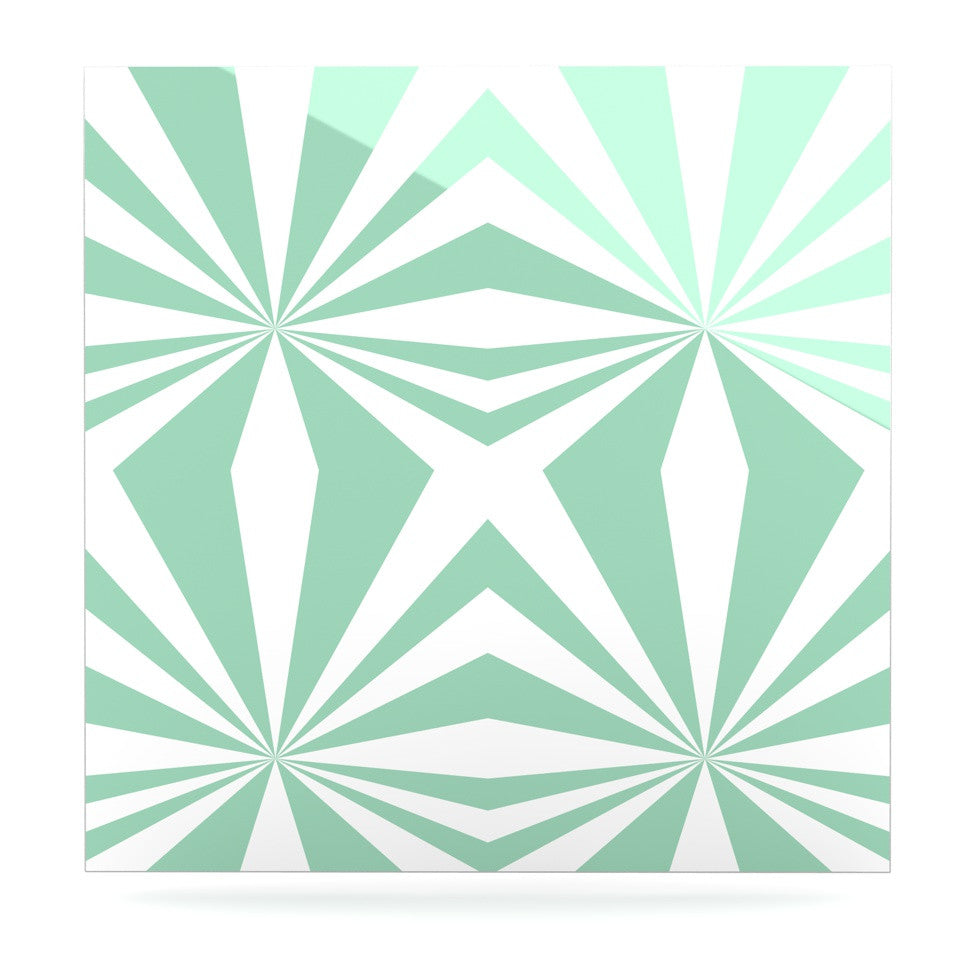 "Project M ""Starburst Mint"" Luxe Square Panel - KESS InHouse"