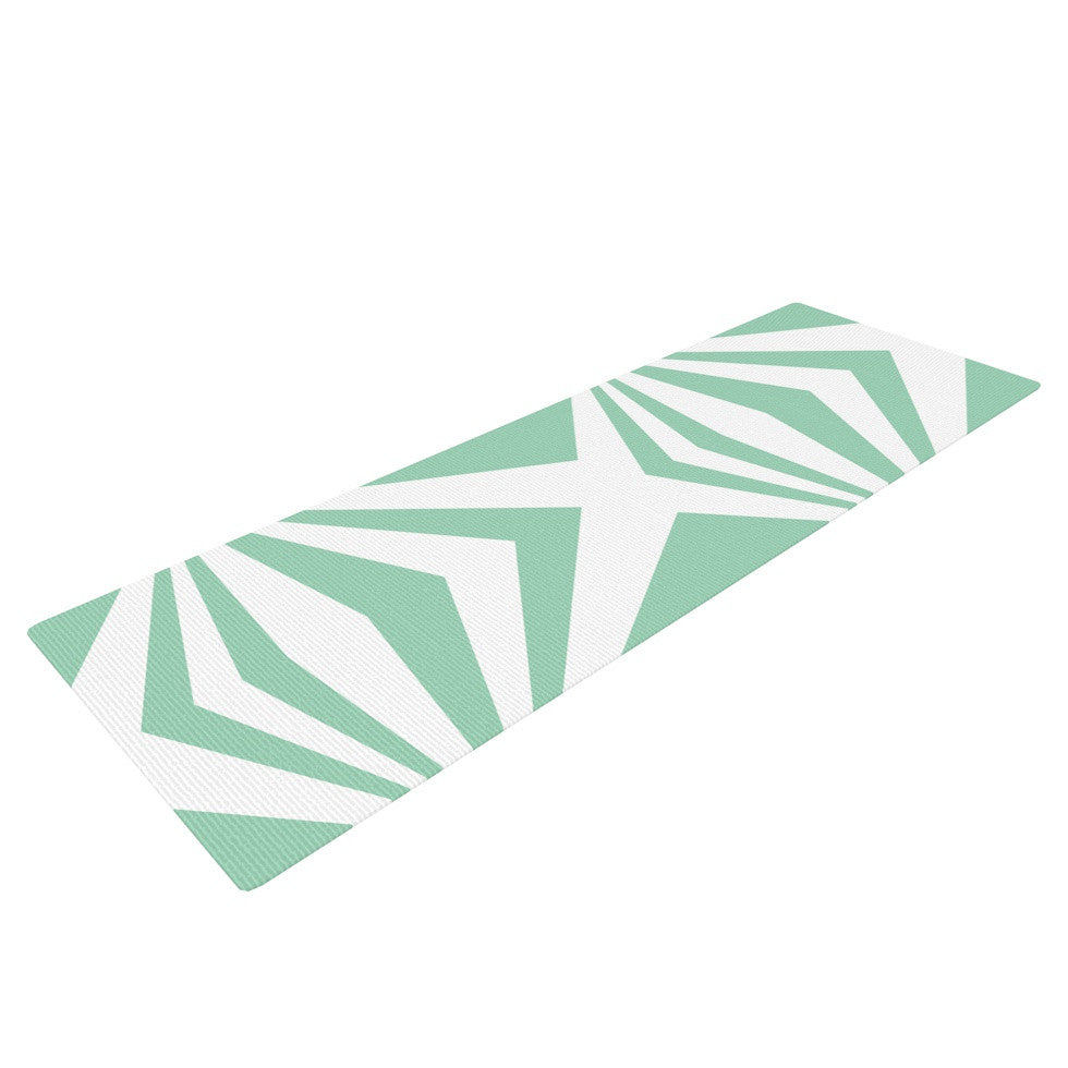"Project M ""Starburst Mint"" Yoga Mat - KESS InHouse  - 1"