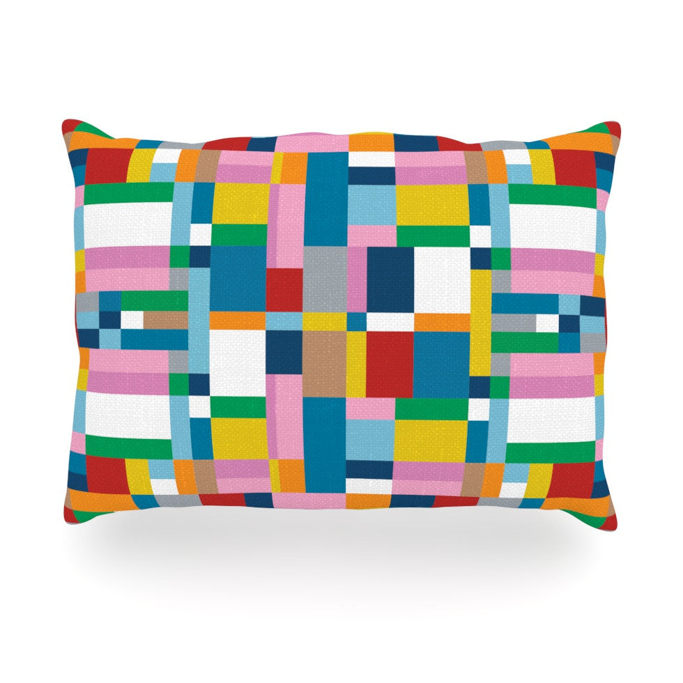 "Project M ""Map"" Oblong Pillow - KESS InHouse"