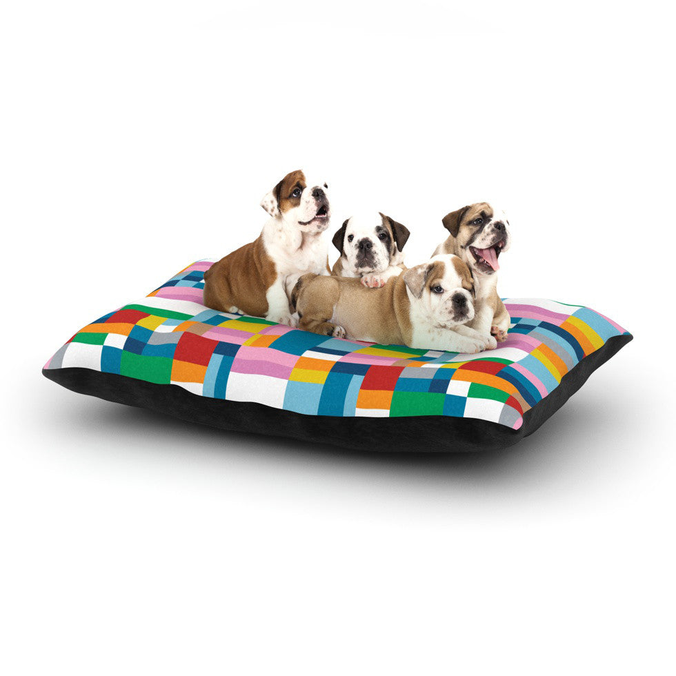 "Project M ""Map"" Dog Bed - KESS InHouse  - 1"