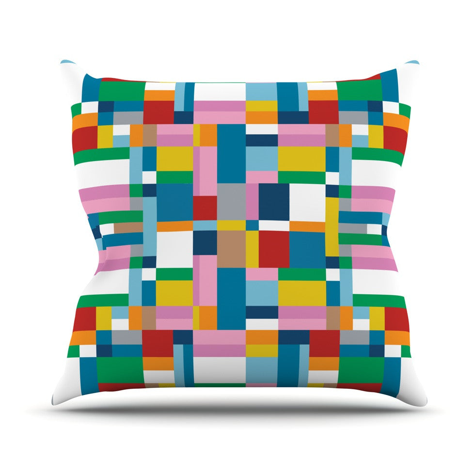 "Project M ""Map"" Throw Pillow - KESS InHouse  - 1"