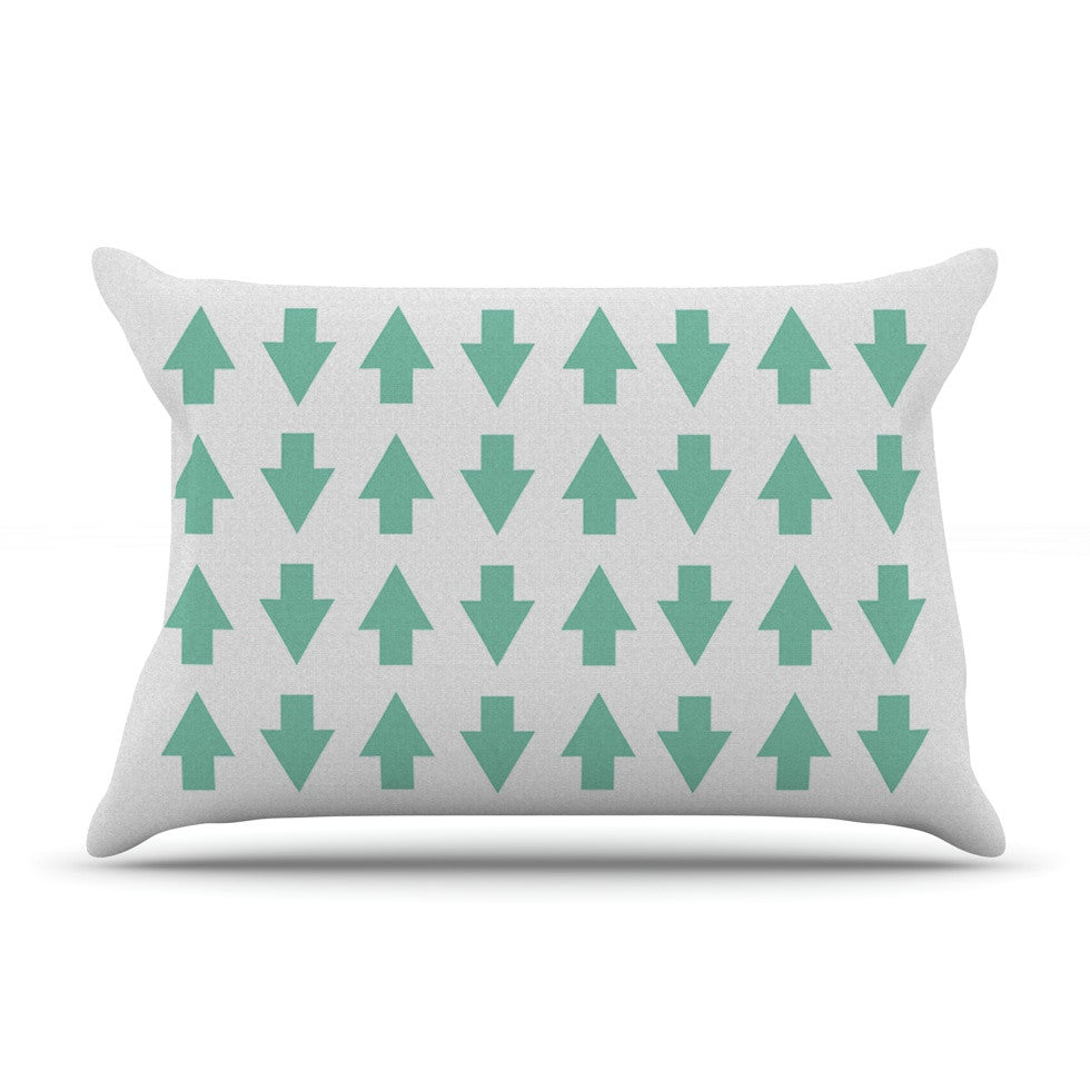 "Project M ""Arrows Up and Down Mint"" Pillow Sham - KESS InHouse"