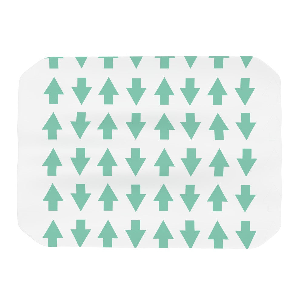 "Project M ""Arrows Up and Down Mint"" Place Mat - KESS InHouse"