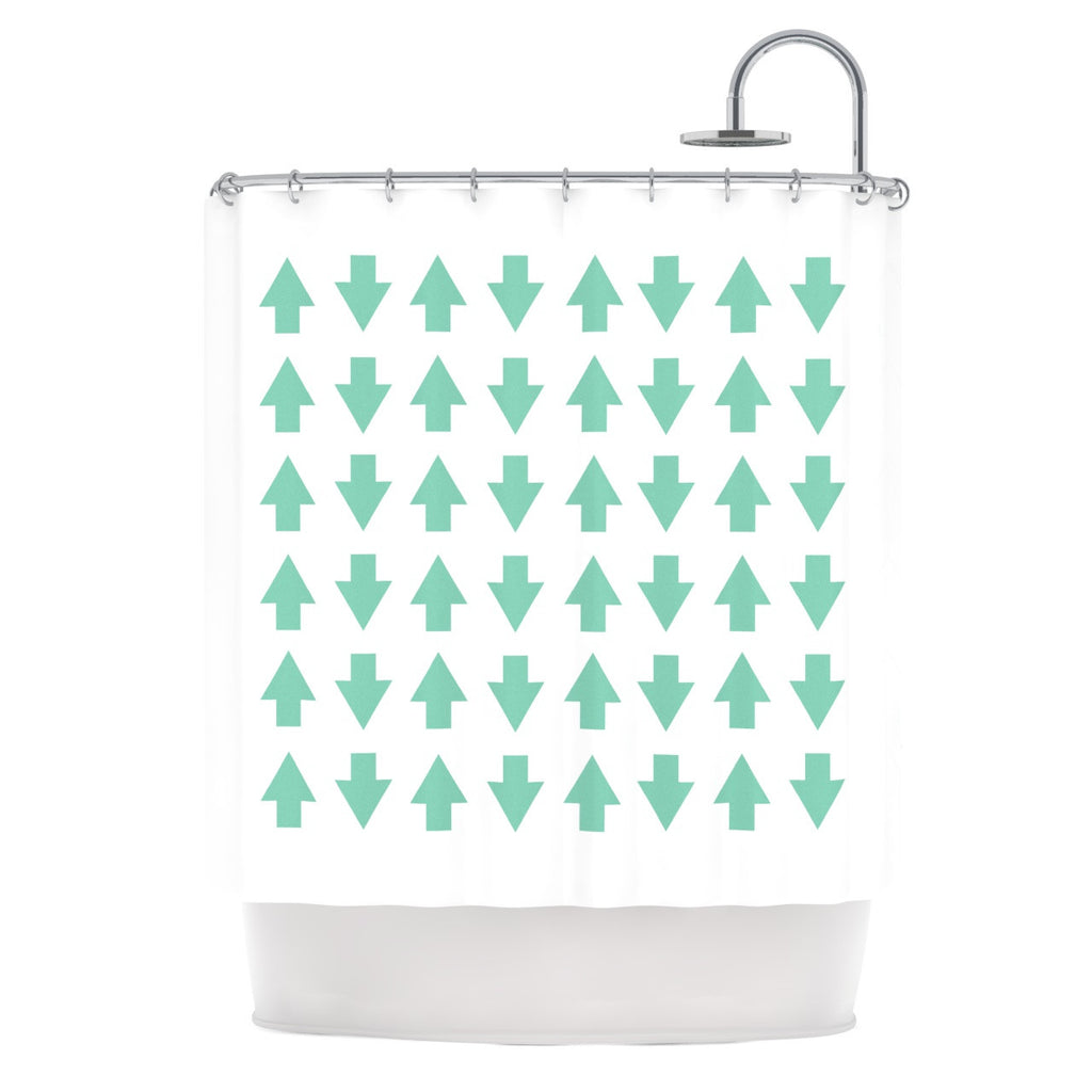 "Project M ""Arrows Up and Down Mint"" Shower Curtain - KESS InHouse"