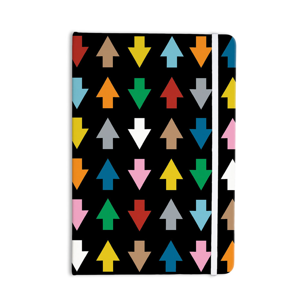 "Project M ""Arrows Up and Down Black"" Everything Notebook - KESS InHouse  - 1"