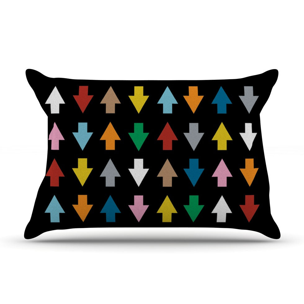 "Project M ""Arrows Up and Down Black"" Pillow Sham - KESS InHouse"