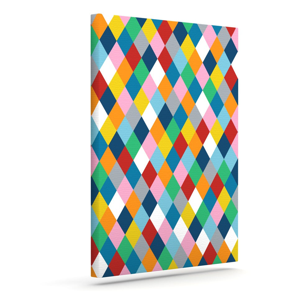 "Project M ""Harlequin Zoom"" Outdoor Canvas Wall Art - KESS InHouse  - 1"