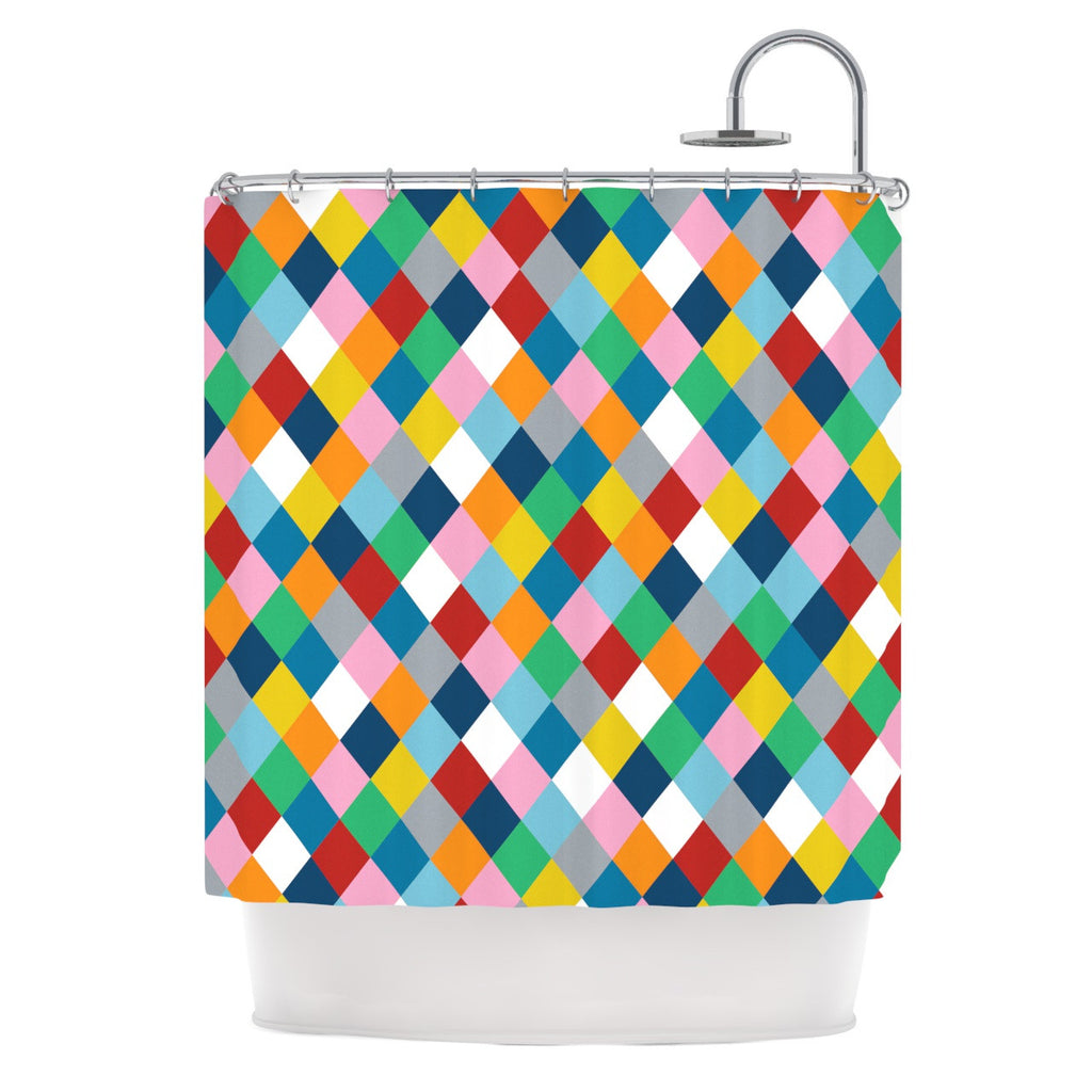 "Project M ""Harlequin Zoom"" Shower Curtain - KESS InHouse"