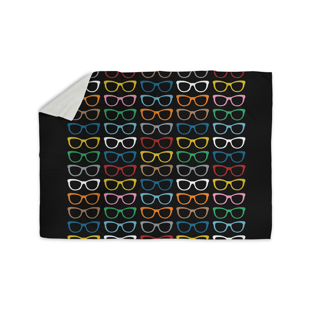 "Project M ""Sun Glasses at Night"" Sherpa Blanket - KESS InHouse  - 1"