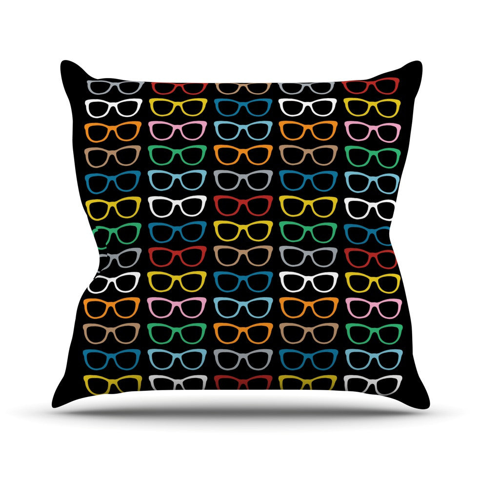 "Project M ""Sun Glasses at Night"" Throw Pillow - KESS InHouse  - 1"