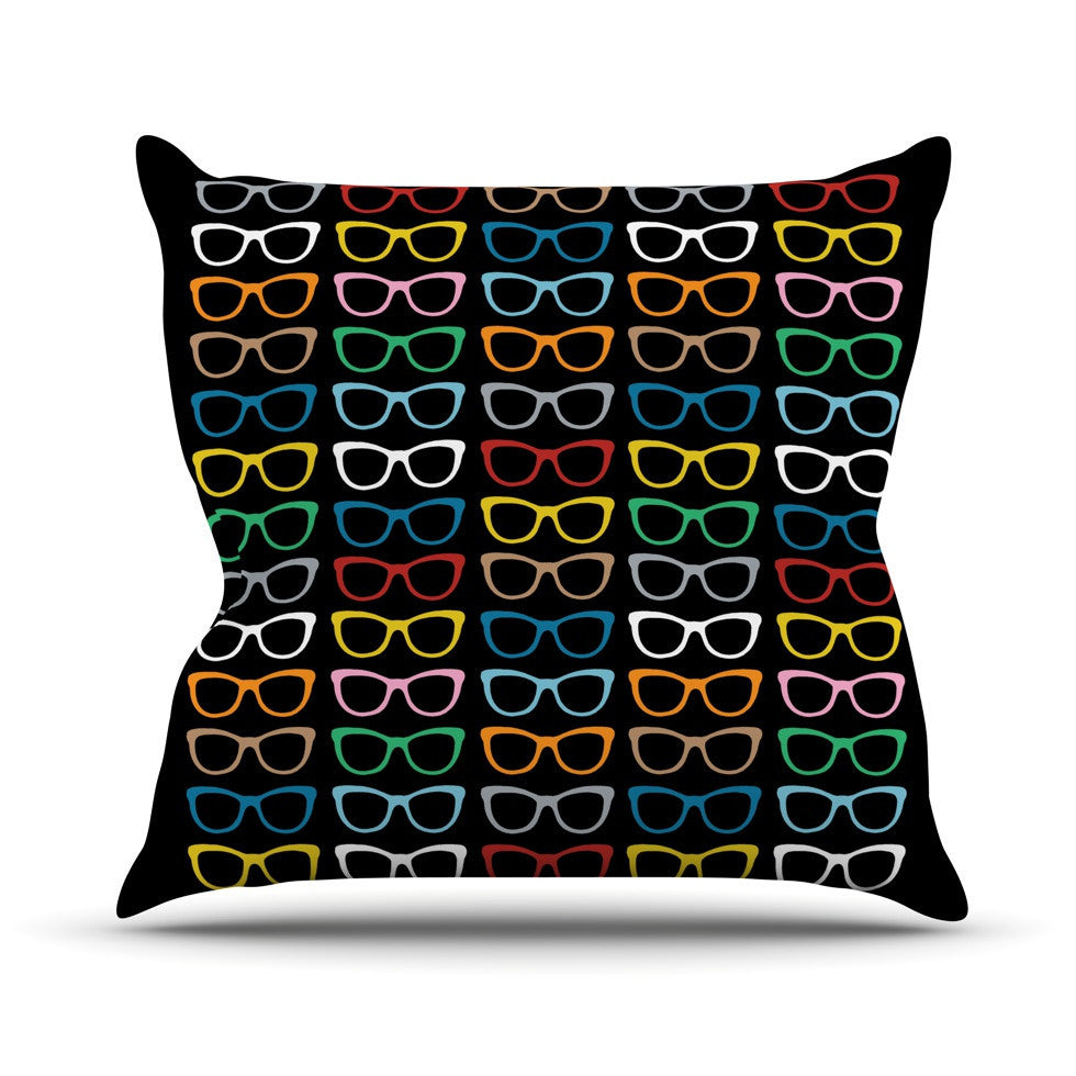 "Project M ""Sun Glasses at Night"" Outdoor Throw Pillow - KESS InHouse  - 1"