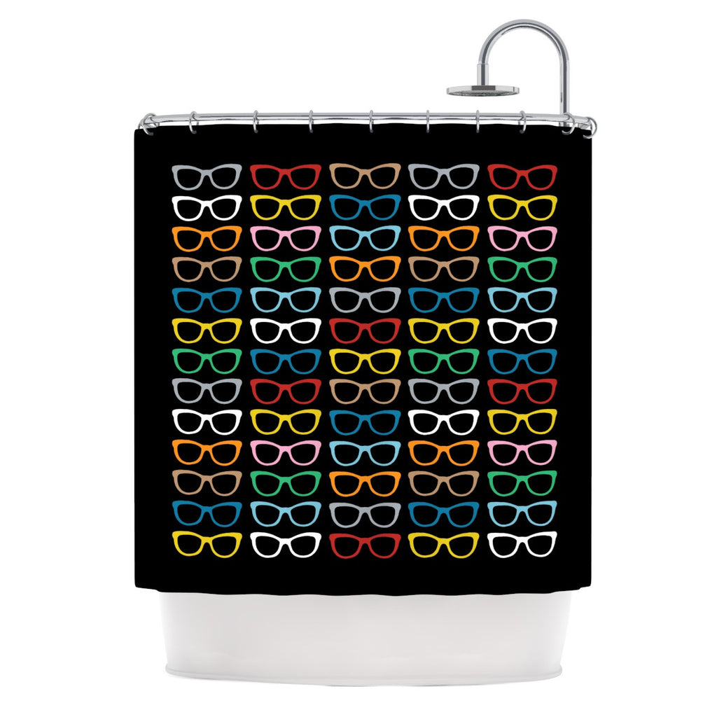 "Project M ""Sun Glasses at Night"" Shower Curtain - KESS InHouse"