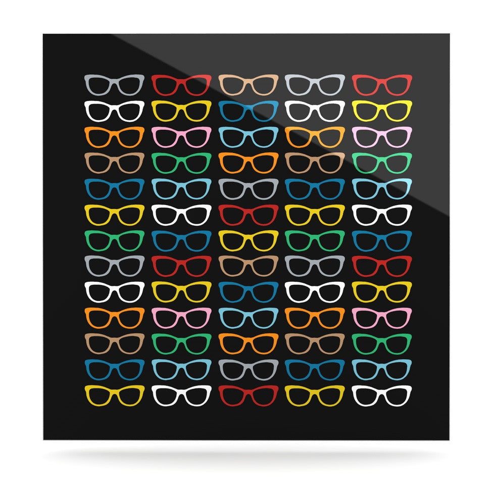 "Project M ""Sun Glasses at Night"" Luxe Square Panel - KESS InHouse  - 1"