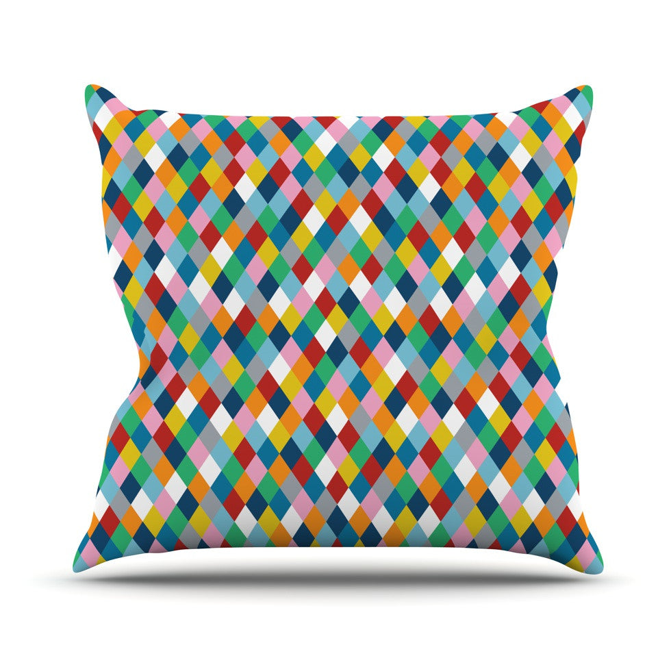 "Project M ""Harlequin"" Throw Pillow - KESS InHouse  - 1"