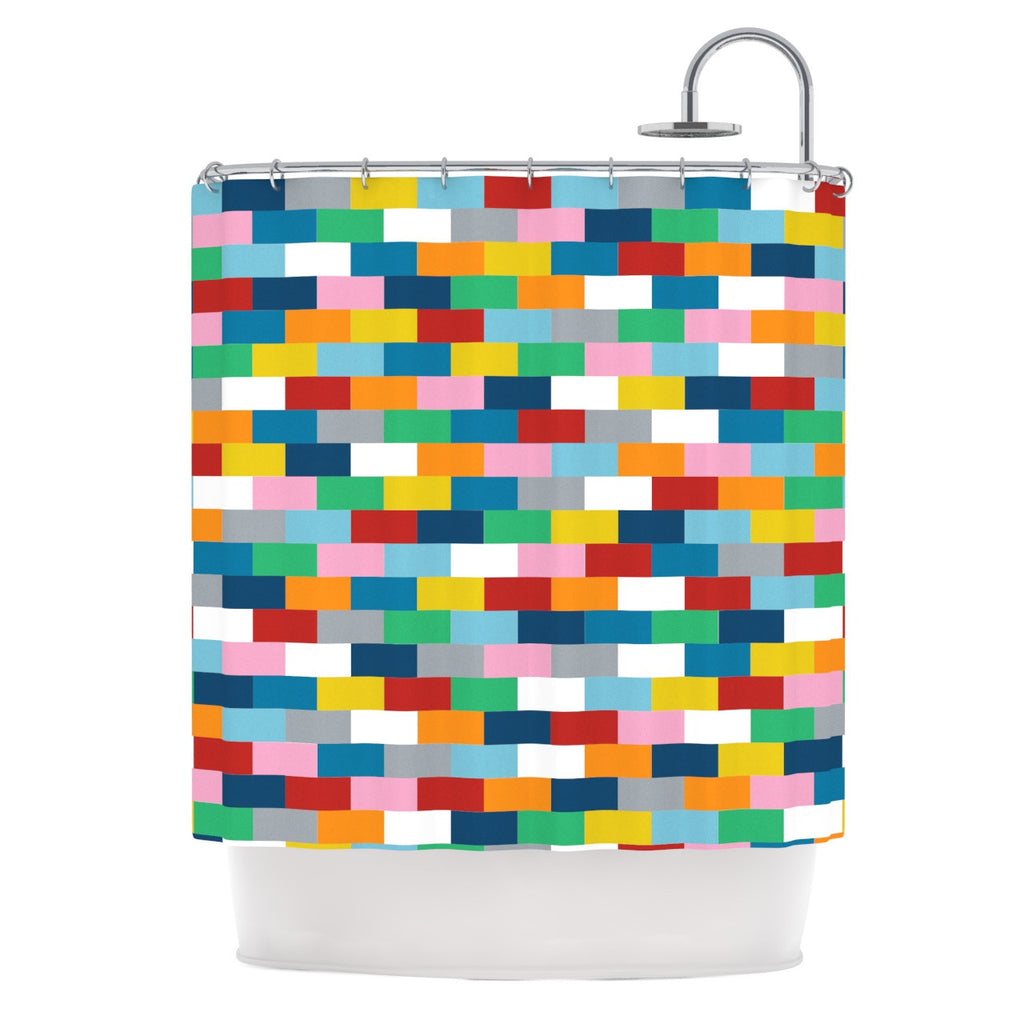 "Project M ""Bricks"" Shower Curtain - KESS InHouse"