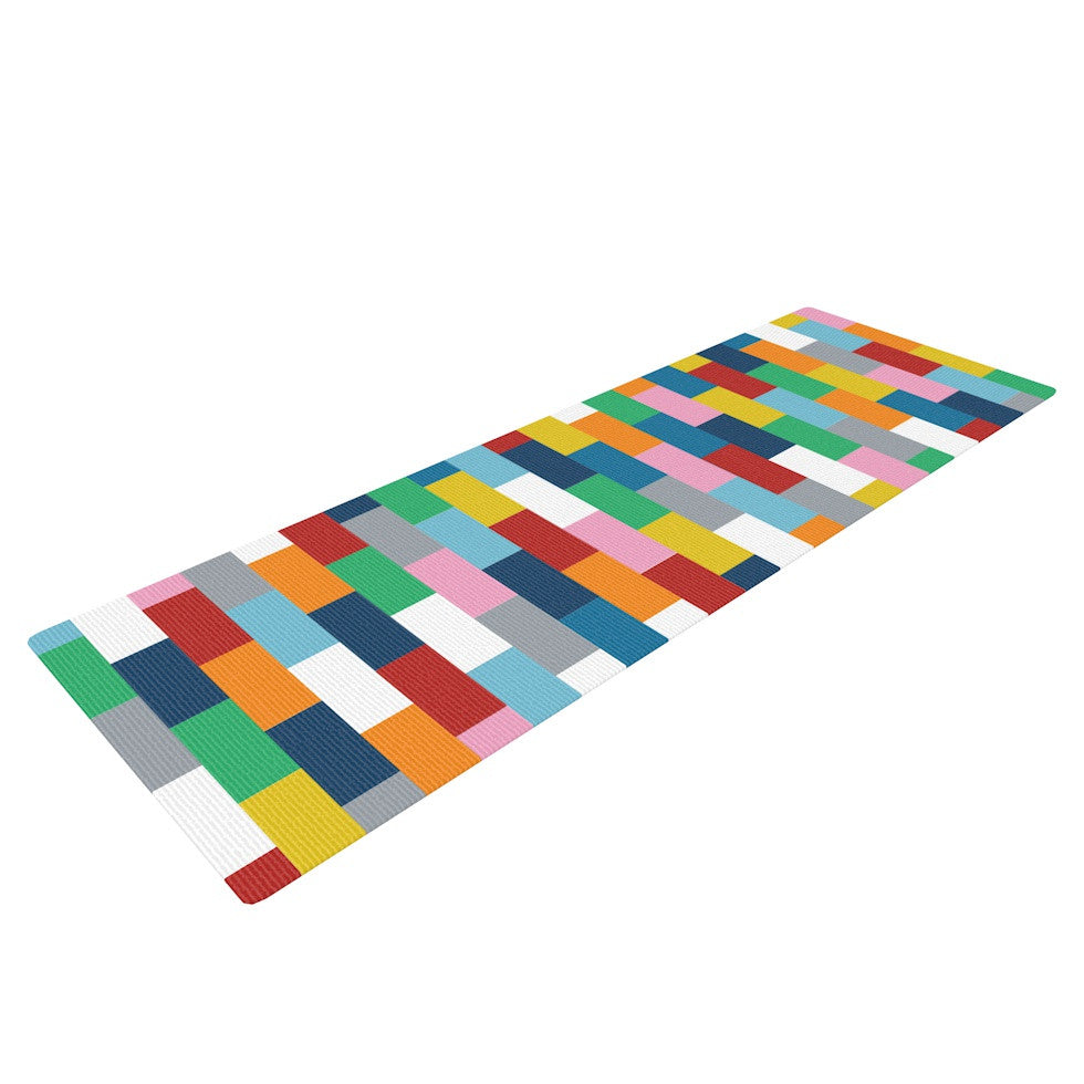 "Project M ""Bricks"" Yoga Mat - KESS InHouse  - 1"