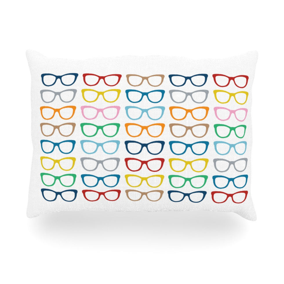 "Project M ""Rainbow Specs"" Oblong Pillow - KESS InHouse"