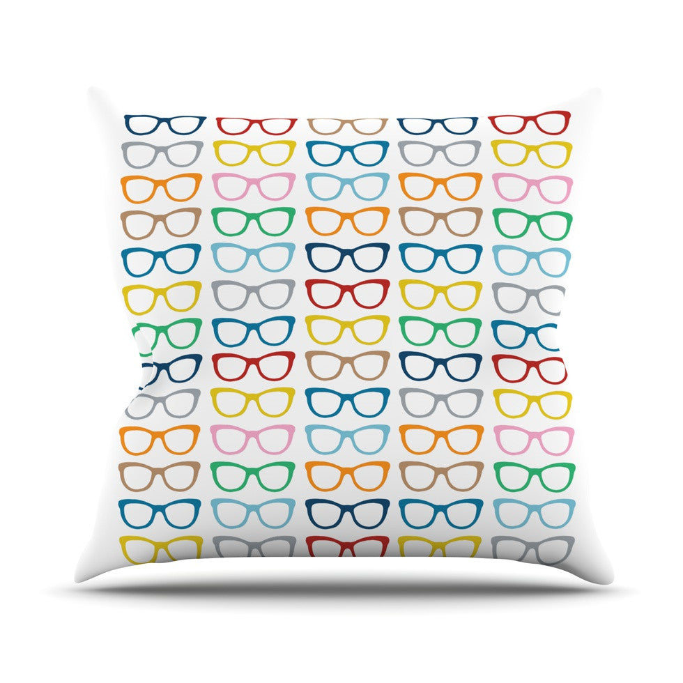 "Project M ""Rainbow Specs"" Throw Pillow - KESS InHouse  - 1"