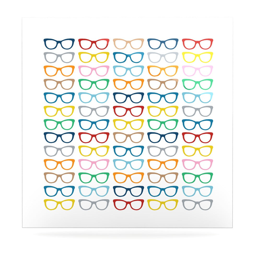 "Project M ""Rainbow Specs"" Luxe Square Panel - KESS InHouse  - 1"