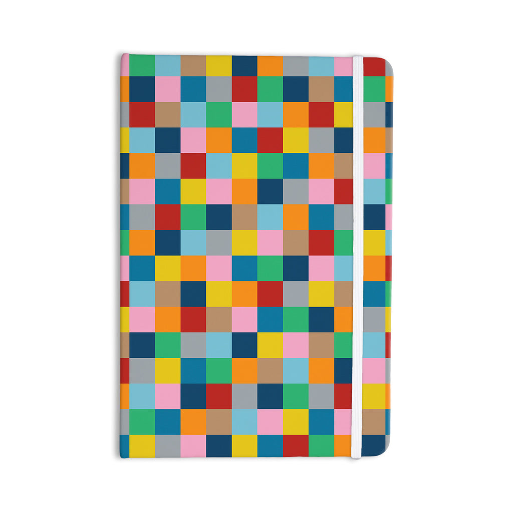 "Project M ""Colour Blocks Zoom"" Geometric Rainbow Everything Notebook - KESS InHouse  - 1"