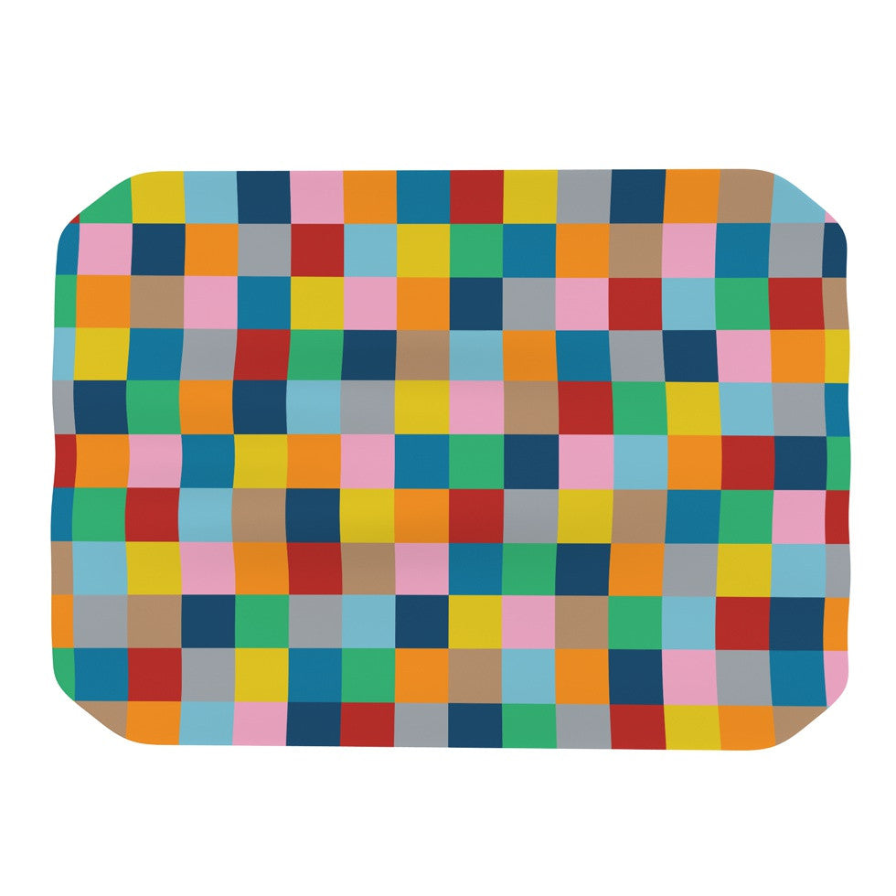 "Project M ""Colour Blocks Zoom"" Geometric Rainbow Place Mat - KESS InHouse"