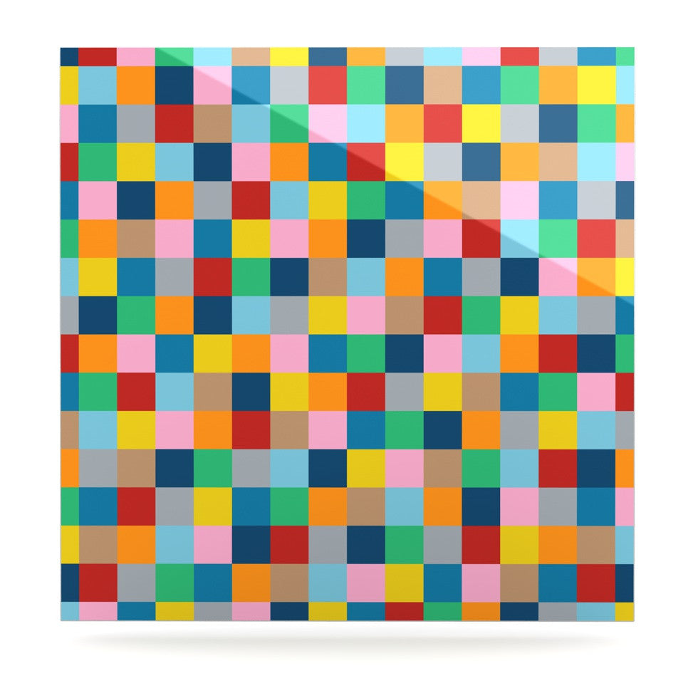 "Project M ""Colour Blocks Zoom"" Geometric Rainbow Luxe Square Panel - KESS InHouse  - 1"