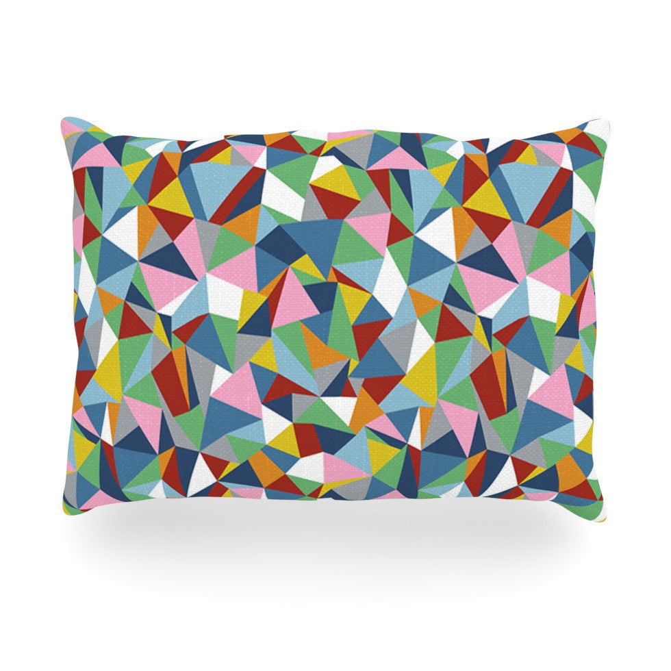 "Project M ""Abstraction"" Rainbow Abstract Oblong Pillow - KESS InHouse"