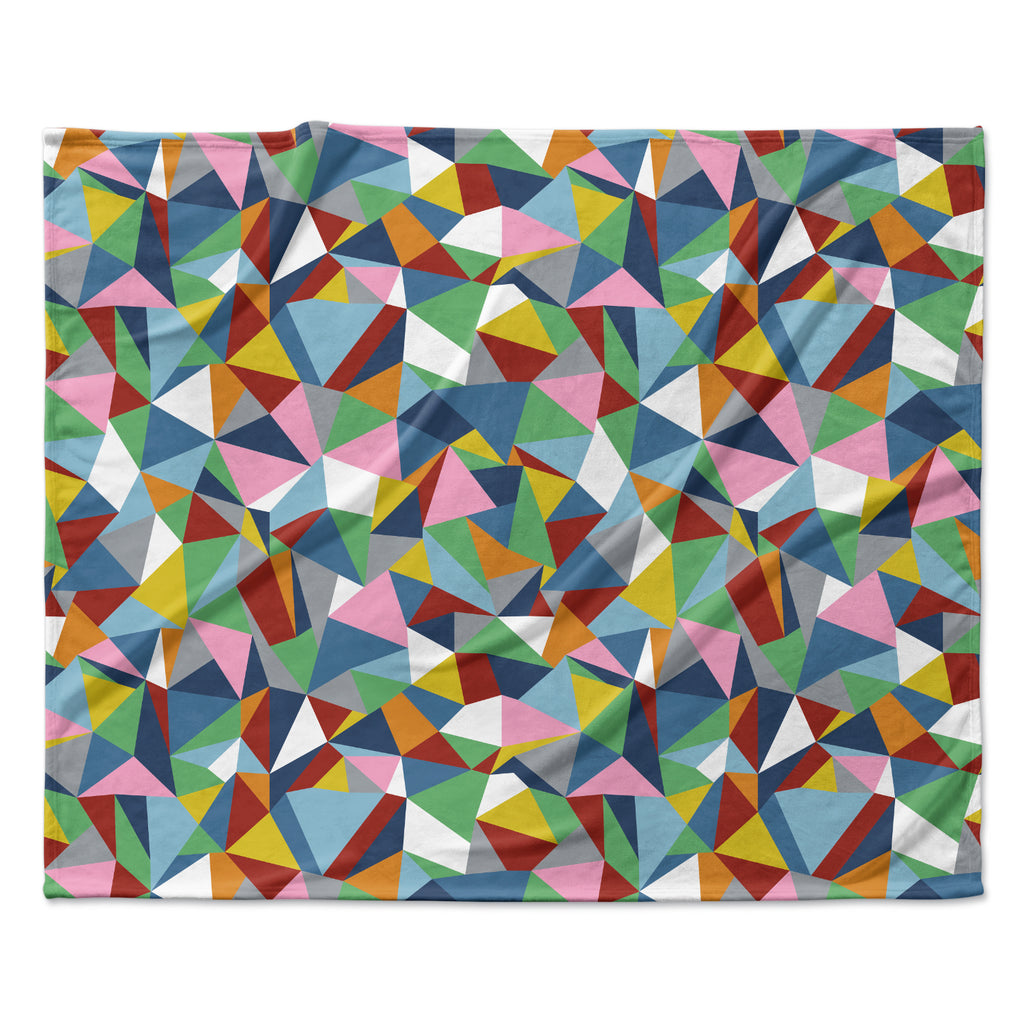 "Project M ""Abstraction"" Rainbow Abstract Fleece Throw Blanket"
