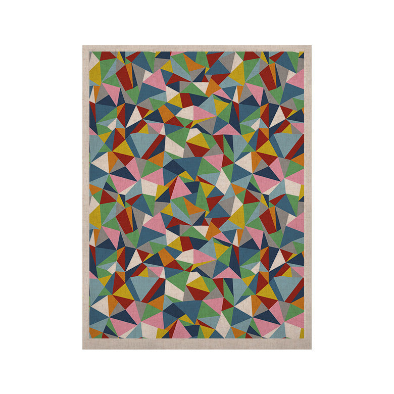 "Project M ""Abstraction"" Rainbow Abstract KESS Naturals Canvas (Frame not Included) - KESS InHouse  - 1"